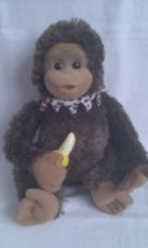 Adorable Big Talking 'Hush Little Monkey' Plush Toy makes cute sounds